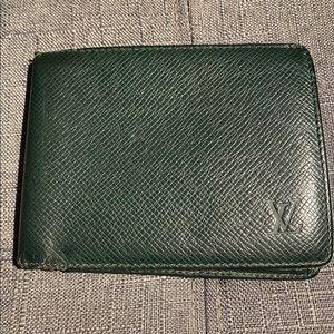 Louis Vuitton Green Taiga Bifold